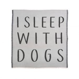 21×12 I Sleep With Dogs Cushion