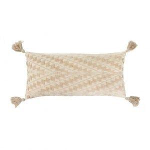 15×32 Athens Bolster Pillow, Ecru